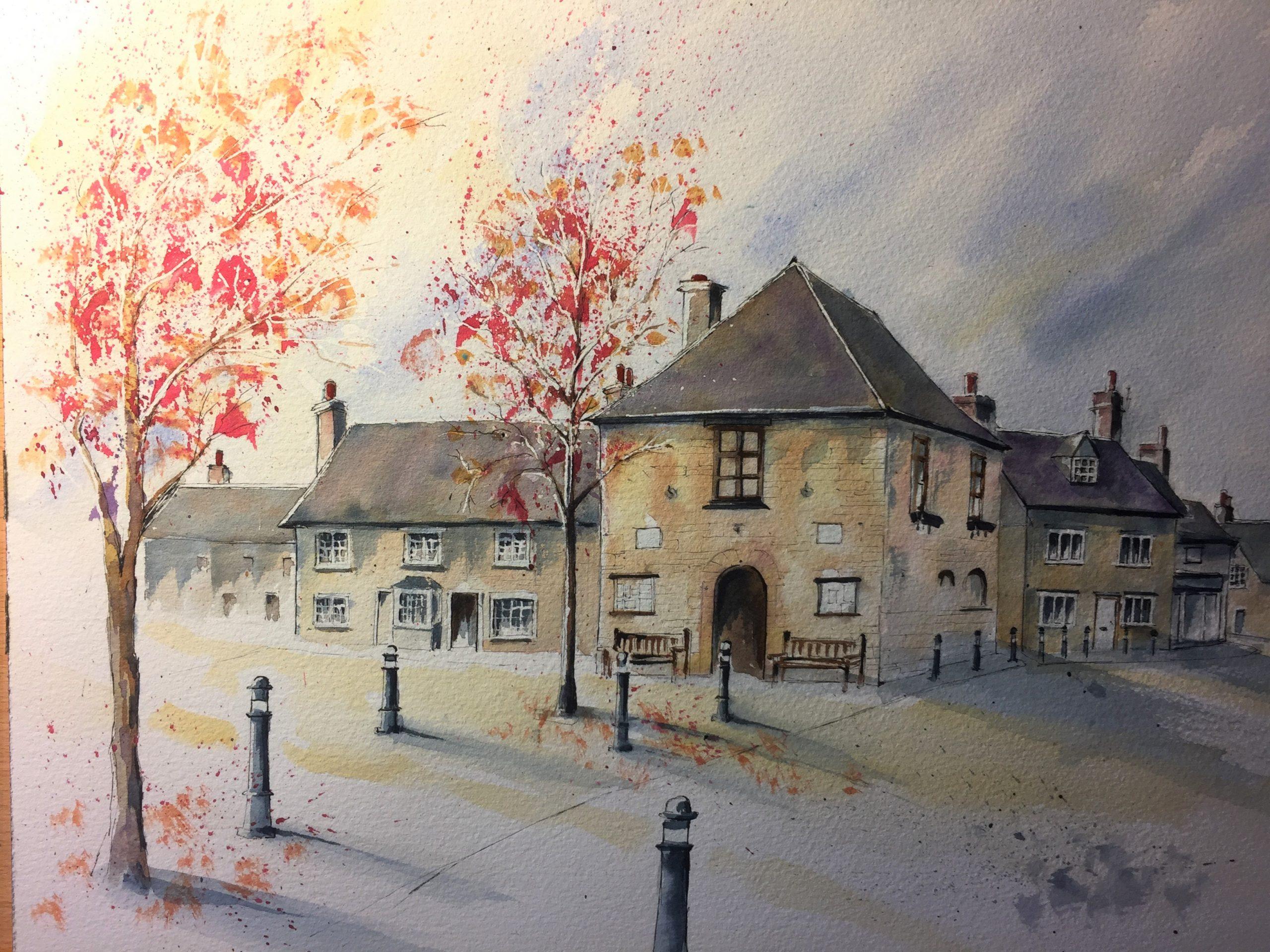 Eynsham Square Autumn