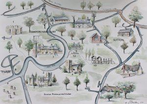 Stanton Harcourt & Sutton - Village Map